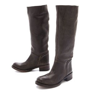 ASH Free People Leather Distressed Riding Boot 6